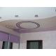 Двухуровневый натяжной потолок с арт печатью