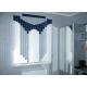 Вертикальные тканевые жалюзи на трехстворчатое окно